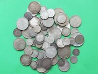 BRITISH & WORLD WIDE SILVER COINS WEIGHT 282 GRAMS OLD COINS