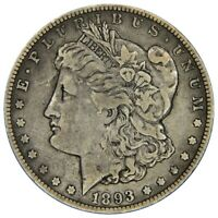 1893-O MORGAN SILVER DOLLAR | KEY DATE  - FINE-   676