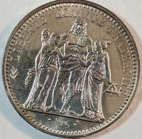1965 FRENCH SILVER MINT SET 10 AND 5 FRANCS ARE BOTH SILVER