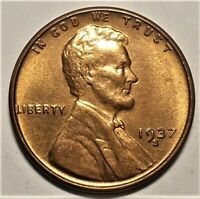 1937-S BU RED LINCOLN CENT  34,500,000 MINTED