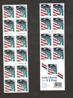 3966A AMERICAN FLAG & STATUE OF LIBERTY US BOOKLET OF 20 MINT/NH