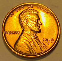 1919 S LINCOLN CENT GEM BU RED