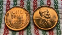 1946 S LINCOLN WHEAT CENT  MS/BU FULL RED LINCOLN COIN CHOICE