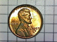 BEAUTIFUL 1957 D LINCOLN WHEAT CENT