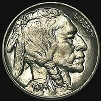 1934 BUFFALO NICKEL GEM QUALITY HARD TO COME BY THIS . FROSTY LUSTER BN121