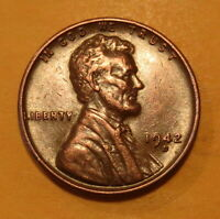1942 D COPPER PENNY--EXTRA FINE
