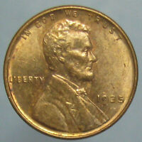 RED BU 1935 LINCOLN WHEAT CENT