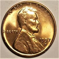 1957-D BU RED LINCOLN CENT   1,051,342,000 MINTED