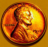 1917 S LINCOLN CENT CHOICE/GEM BU RED 1