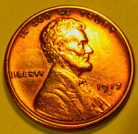1917 S LINCOLN CENT CHOICE/GEM BU RED 2