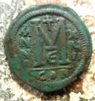JUSTINIAN I FOLLIS CONSTANTINOPLE DATED RY 17  543/4 AD  35 MM 19.36 GM