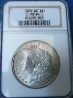 1885 CC MORGAN SILVER DOLLAR MINT STATE 64