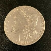 1893 MORGAN SILVER DOLLAR,  HIGH GRADE, GORGEOUS LUSTER-ONLY 378,792 MINTED