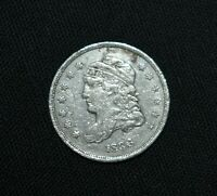 E13. AN 1836 CAPPED BUST HALF DIME / CLEANED / IN AS SHOWN C