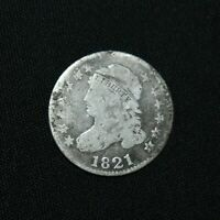 E11. AN 1821 LIBERTY  FULL  CAPPED DIME SILVER   IN AS SHOWN