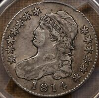 1814 O.109 CAPPED BUST HALF PCGS VF30 CAC FABULOUS QUALITY