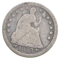1853 SEATED LIBERTY HALF DIME   CHARLES COIN COLLECTION  813
