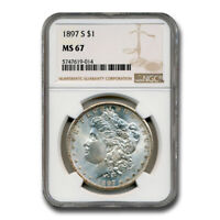 1897-S MORGAN DOLLAR MINT STATE 67 NGC - SKU229040
