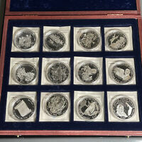 SET OF  12  2000 2003 $20 HISTORY OF AMERICA .925 SILVER FRO