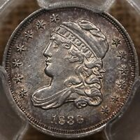 1836 LM 5 SMALL 5 BUST HALF DIME PCGS UNC DET SERIOUSLY??? DAVIDKAHNCOINS