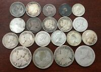 LOT OF 20 CANADA SILVER COINS 1896 1962: SILVER NICKELS DIME