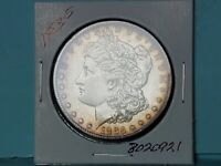 1883-S $ MORGAN SILVER DOLLAR FROSTY WHITE TONED RIM 8020921-50EE