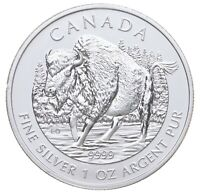 BETTER DATE   2013 CANADA $5   1 OZ. SILVER WOOD BISON   SIL