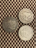 LOT OF 3 MORGAN SILVER DOLLARS1883,1885,190016