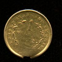 UNITED STATES OF AMERICA LIBERTY HEAD $1 GOLD COIN   EX JEWE