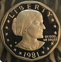1981 S SUSAN B ANTHONY TYPE 2 PROOF DCAM/GEM EXCELLENT CONDI
