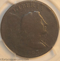 1793 S13 R4- LIBERTY CAP LARGE CENT PCGS G6 EX-GENE HEARD COLLECTION