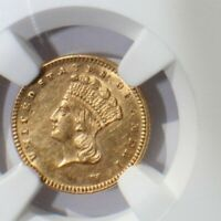 1877 INDIAN GOLD DOLLAR   NGC UNCIRCULATED DETAILS   KEY DAT