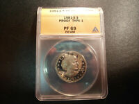 1981 S TYPE 1 ANACS PF69DCAM PROOF SUSAN B. ANTHONY DOLLAR