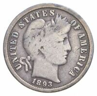 BETTER 1893   US BARBER LIBERTY SILVER DIME COIN COLLECTION