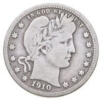 BETTER 1910 D   US BARBER 90  SILVER QUARTER COIN COLLECTION