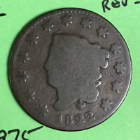 1822 1C LARGE CENT OBVERSE-G REVERSE AG N-10 R-2