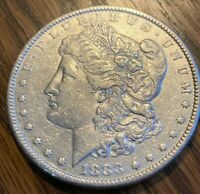 1883-P BEAUTIFUL PHILADELPHIA MINTED MORGAN SILVER DOLLAR----90 SILVER