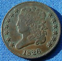 VERY NICE LOOKING 1826 HALF CENT