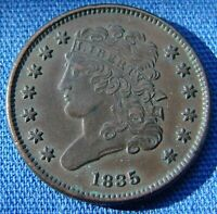 VERY NICE LOOKING 1835 HALF CENT CLASSIC HEAD   ESTATE FRES