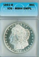 WHAT?  REALLY A DMPL 1891-S MORGAN DOLLAR?  CHECK IT OUT  ICG MINT STATE 64DMPL SLAB