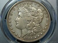 1901 $1 MORGAN DOLLAR DOUBLED DIE REVERSE DDR VAM-3 SHIFTED EAGLE VF-35 PCGS