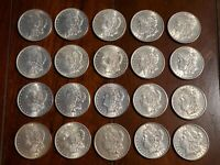 20 ROLL MORGAN SILVER DOLLAR COINS MIXED DATES AWESOME COLLE