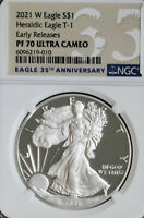 2021 W PROOF EARLY RELEASE AMERICAN EAGLE TYPE 1  NGC PF70 U