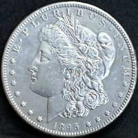 1895 S MORGAN SILVER DOLLAR AU DETAILS  KEY DATE COIN  ONLY 400,000 MINTED
