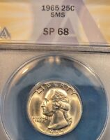 1965 SMS QUARTER SP68 ANACS FROM SPECIAL MINT SET HIGH GRADE