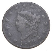 BETTER 1818 MATRON HEAD US LARGE CENT PENNY COIN COLLECTION