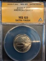 2009 QUARTER AMERICAN SAMOA SATIN FINISH MS69 ANACS TOP POP