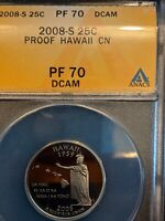 2008 S PROOF QUARTER HAWAII PF 70 DCAM ANACS