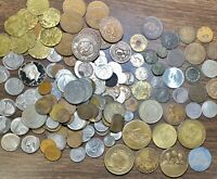 2LB LOT WORLD COINS. SOME SILVER AND SOME EARLY 1800S  SEE A
