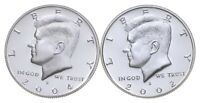 2004 S & 2002 S GEM DEEP CAMEO PROOF KENNEDY HALF DOLLAR 90
